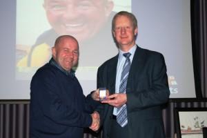 Paul Singleton 30-year badge